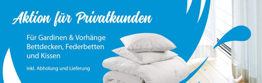 Wäscherei Klein Saarlouus, Dillingen, Merzig, Saarland, Frischekur Gardinen, Vorhänge, Bettdecken, Federbetten, Topper, Kissen